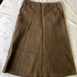 Boden Linen A-Line Skirt